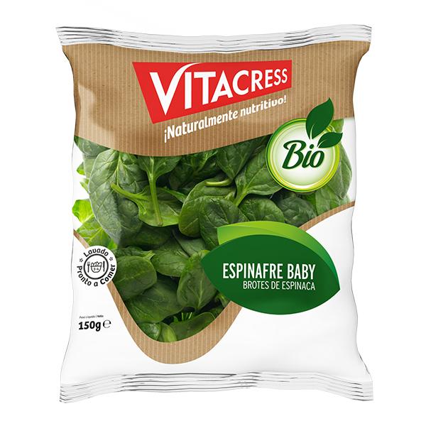 Espinafre baby Biológico Vitacress emb. 150 gr