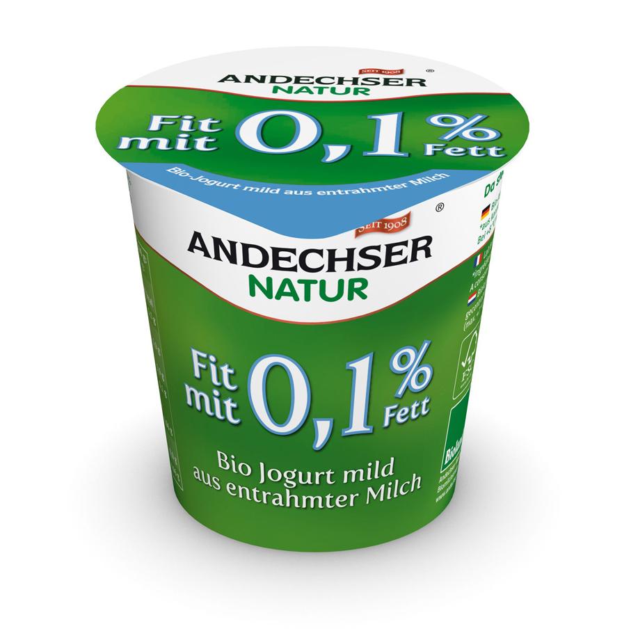 Iogurte 0,1% Matéria Gorda Bio Andechser emb. 150 gr