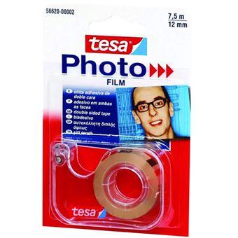 Fita Cola Dupla com Desenrolador 12mm*7.5m Tesa