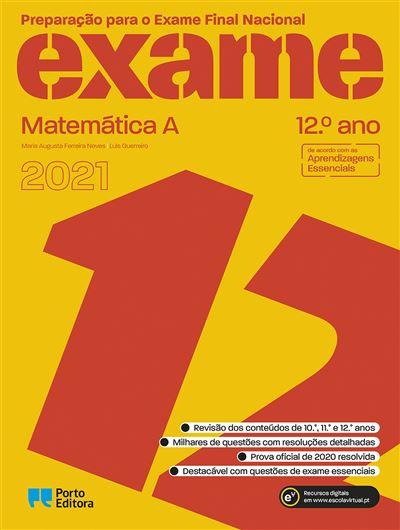 Preparação para o Exame Final Nacional 2021 - Matemática A - 12.º Ano