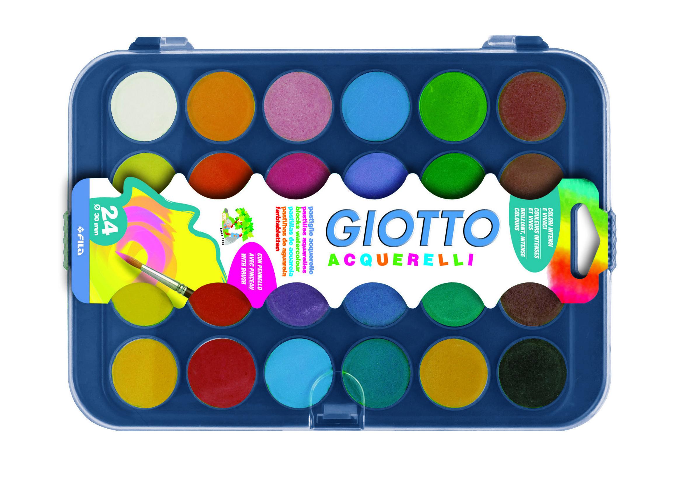 Conjunto aguarela 24 cores (marca Giotto)