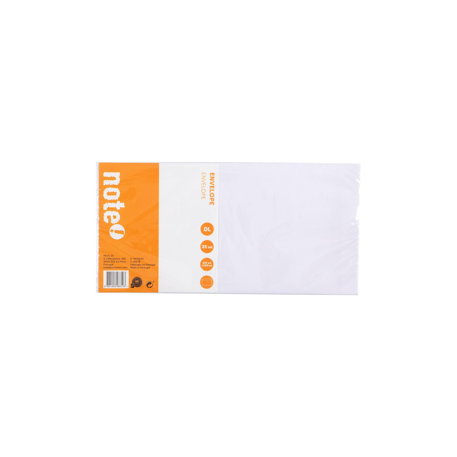 Envelope Silicone DL 25unid note!