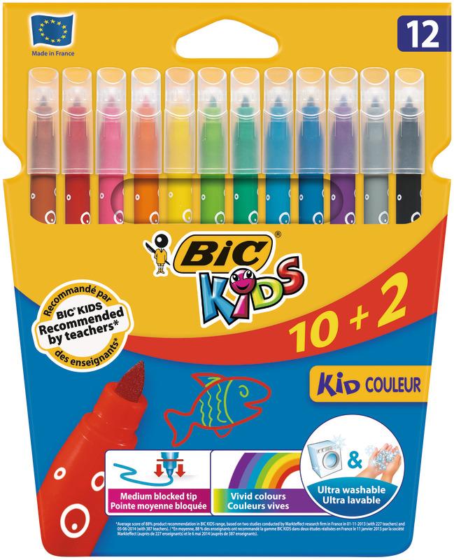 Marcadores e Colorir BIC - 12 unid