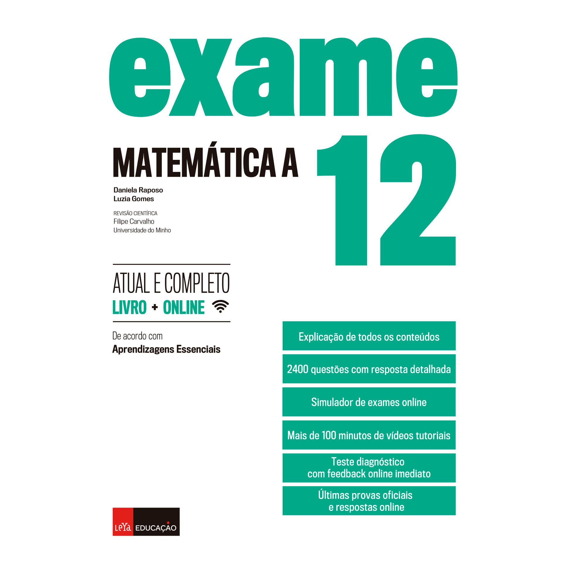 Exame Matemática A 12.º Anode Daniela Raposo e Luzia Gomes