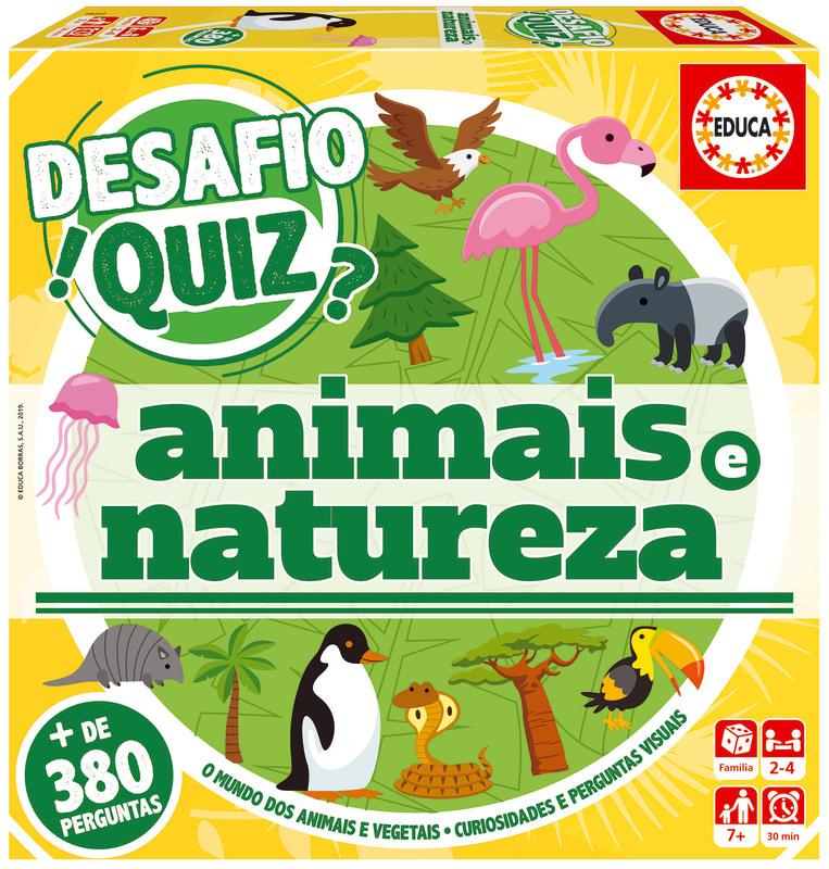 Desafio Quiz - Descobrir Os Animaise a Natureza