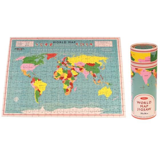 Puzzle Mapa Mundo Tubo