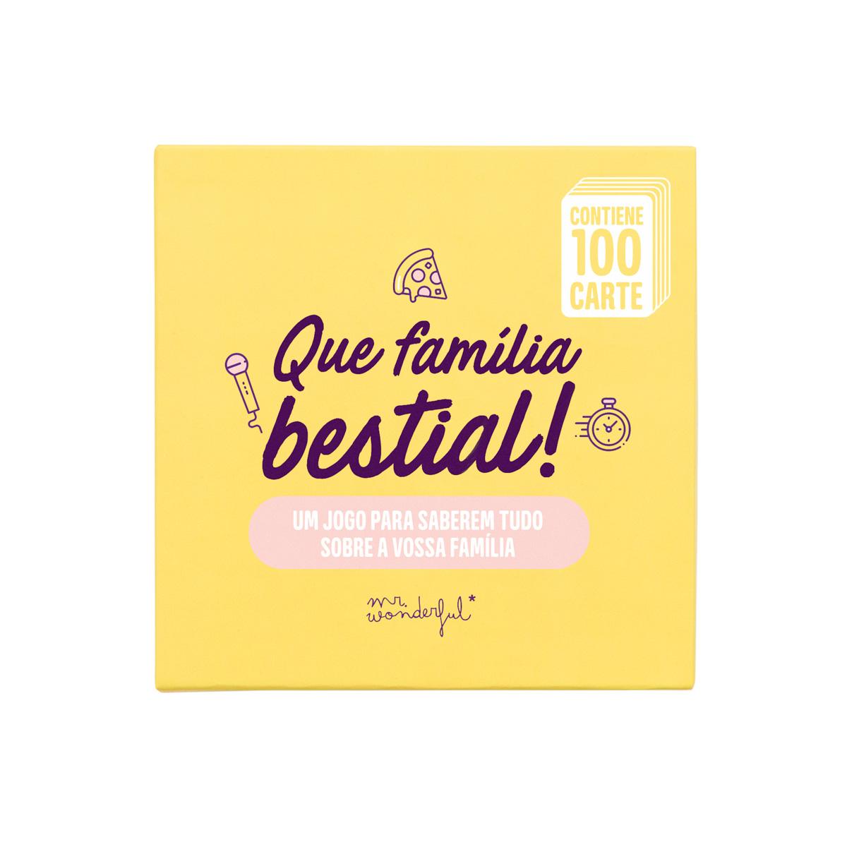 Jogo De Cartas - Que Família Bestial!