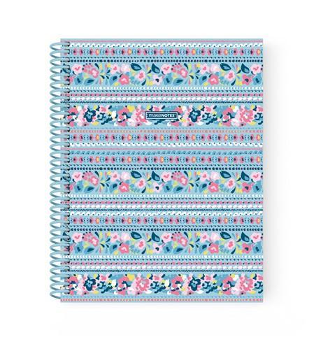 Caderno Espiral A5 Liso - Coleção Bluebell