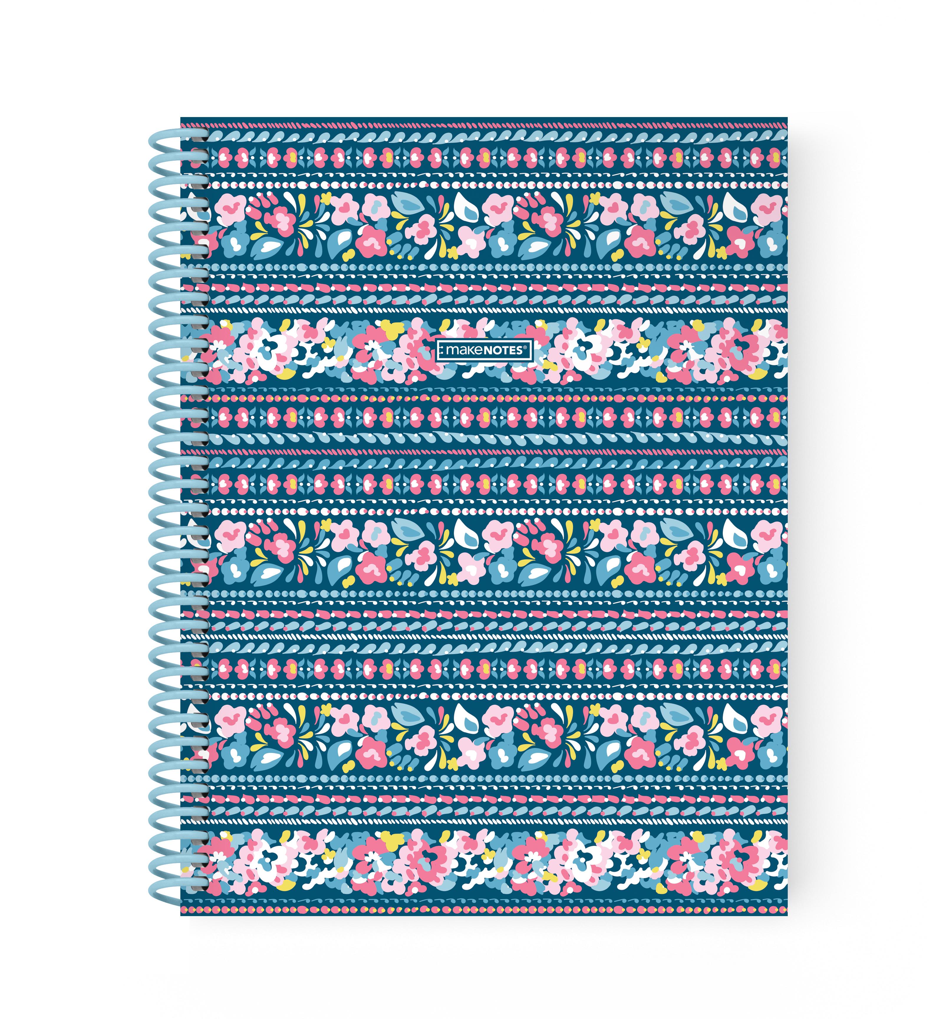 Caderno Espiral A5 Quadriculado - Coleção Bluebell