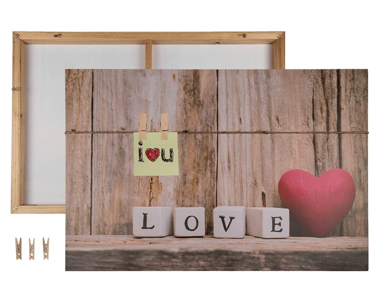 Tela 40x60cm Love