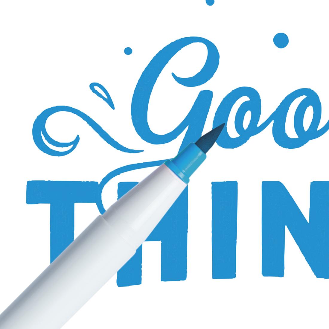 Marcador Ginza Pro Brush Pen Azul Ciano