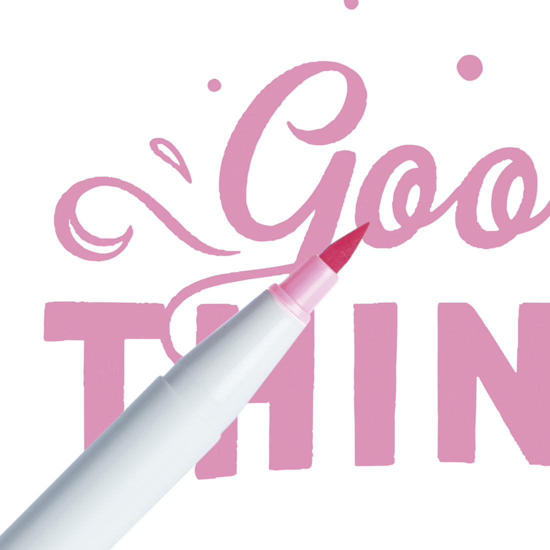 Marcador Ginza Pro Brush Pen Rosa