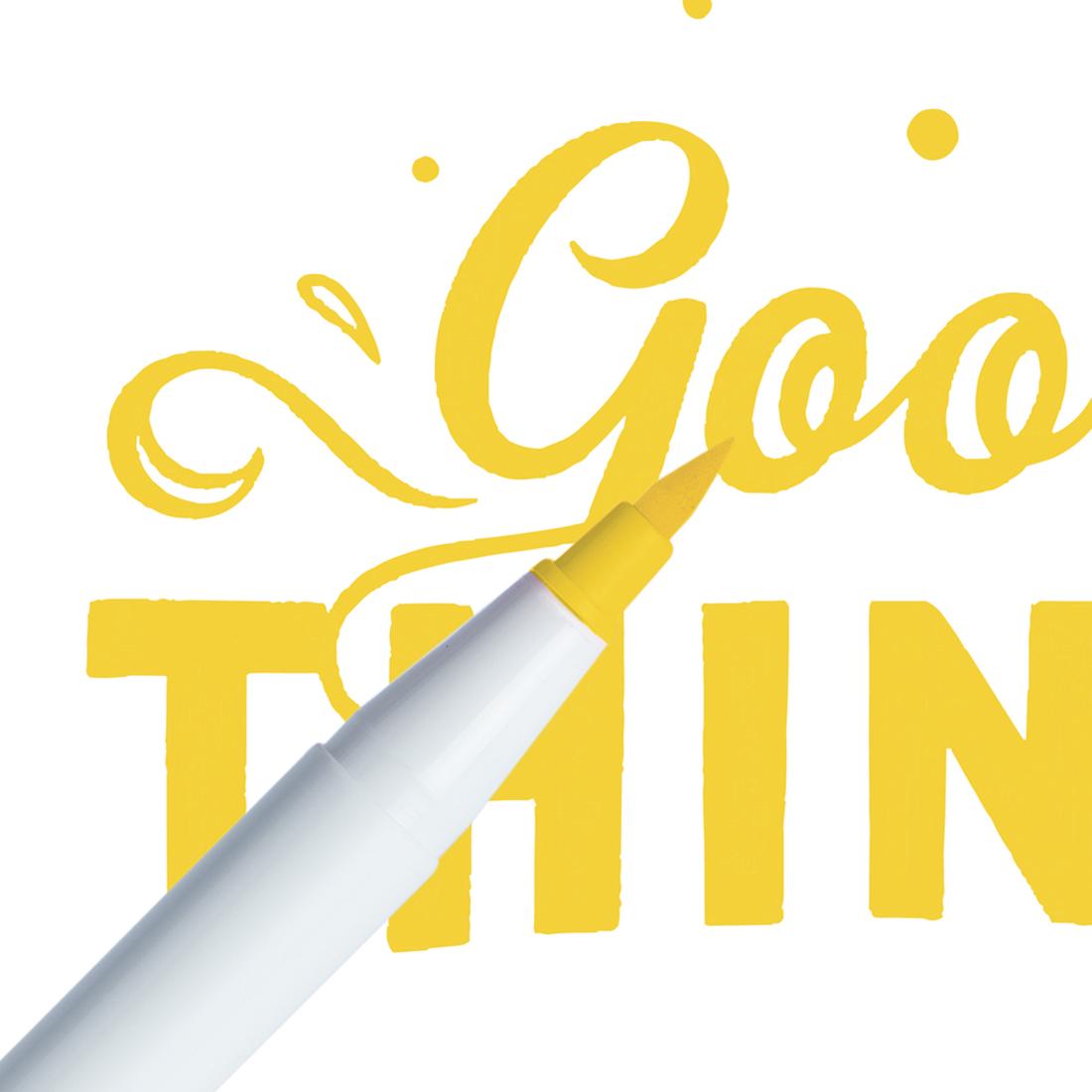 Marcador Ginza Pro Brush Pen Amarelo Girassol