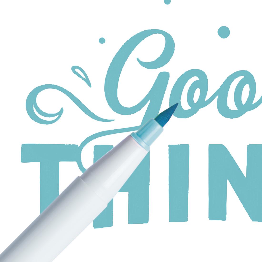 Marcador Ginza Pro Brush Pen Azul Céu