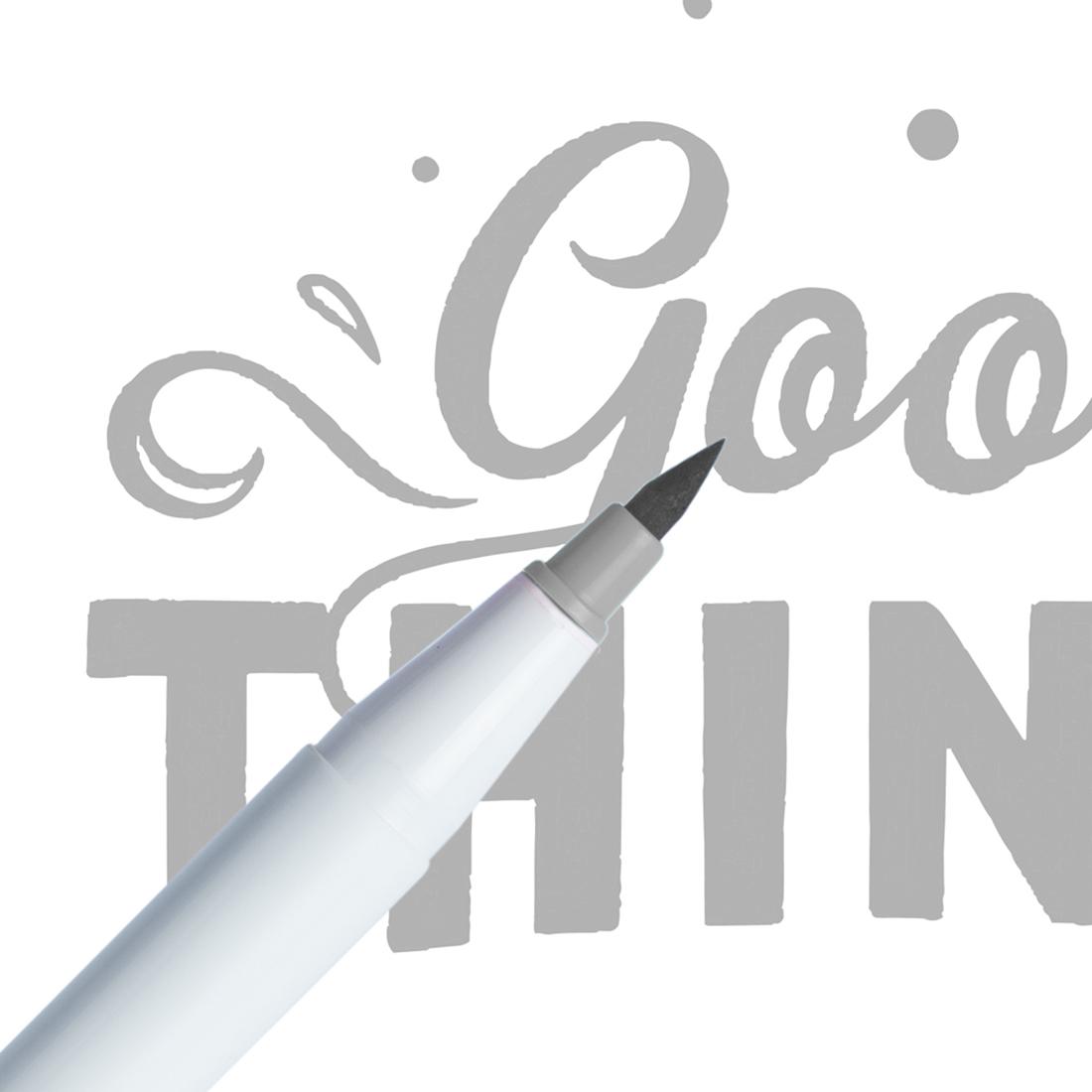 Marcador Ginza Pro Brush Pen Cinza Claro