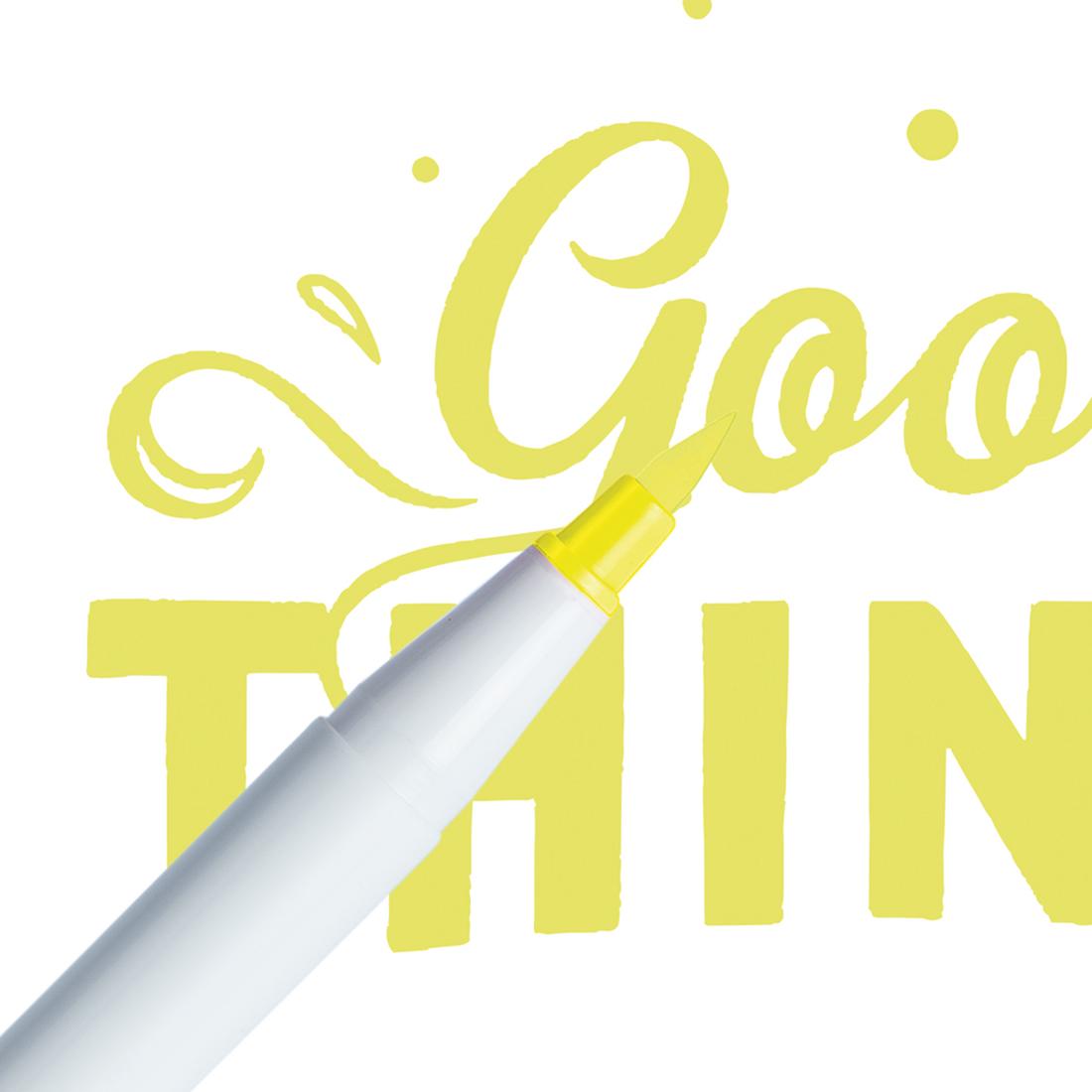 Marcador Ginza Pro Brush Pen Amarelo Claro