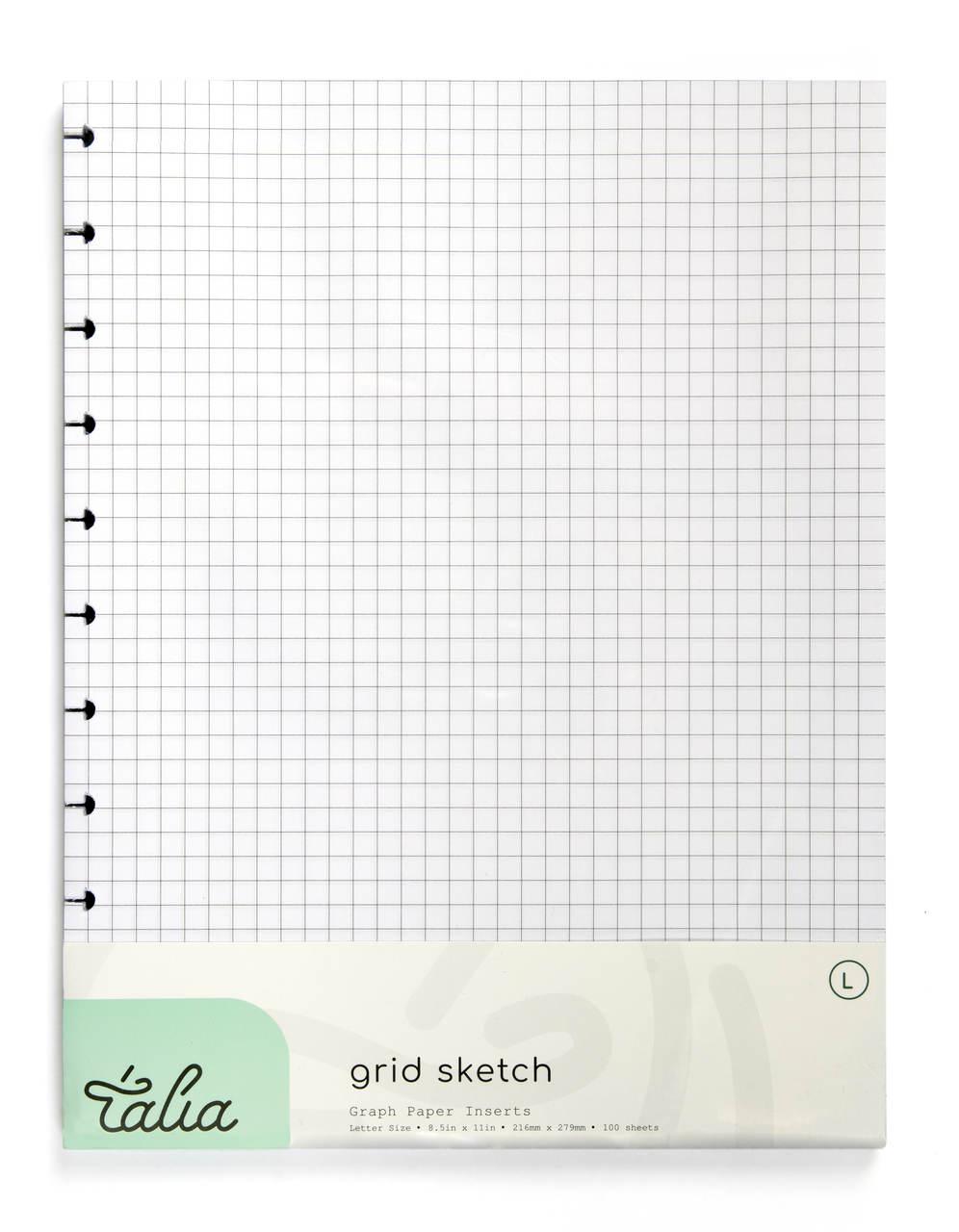 Recarga A4 Quadriculada 100 Folhas Caderno Inteligente Smart Talia