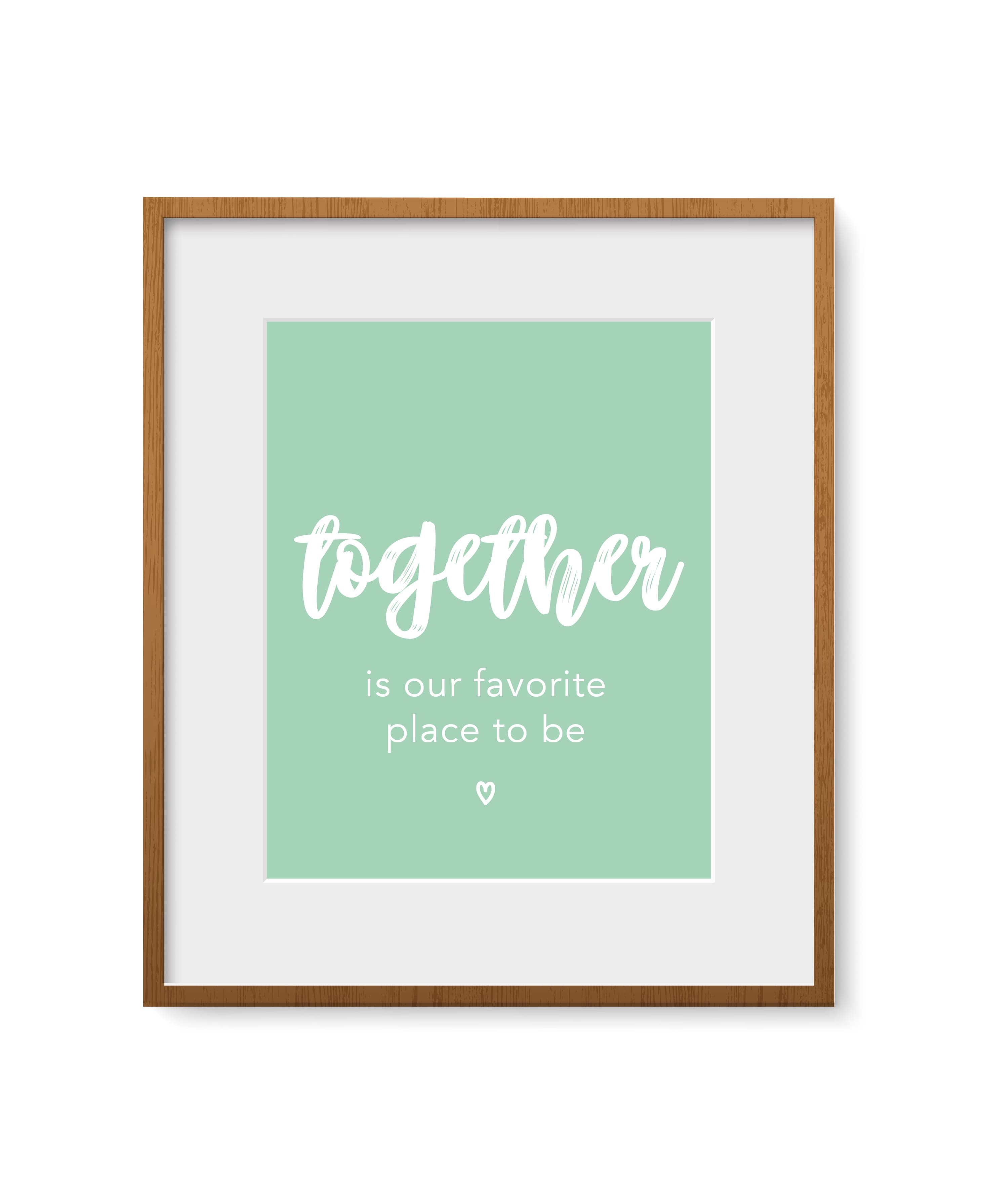 """Quadro - """"Together is our favorite place to be"""""""