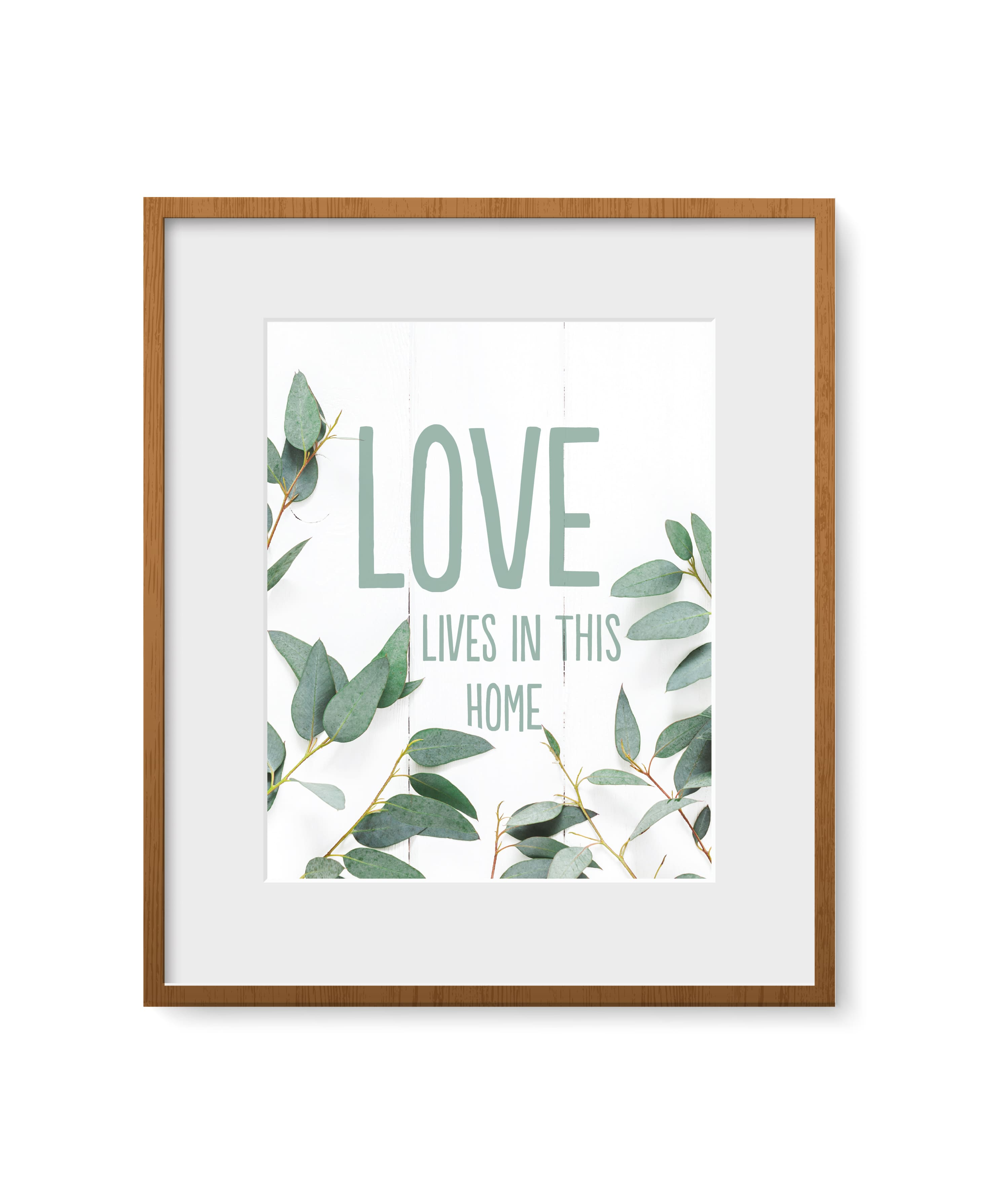 """Quadro - """"Love lives in this home"""""""