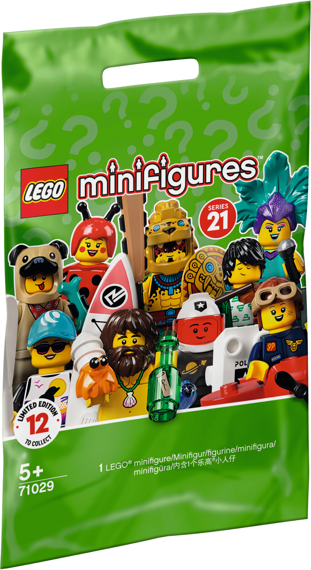 Lego Saqueta Minifiguras 21º Edição