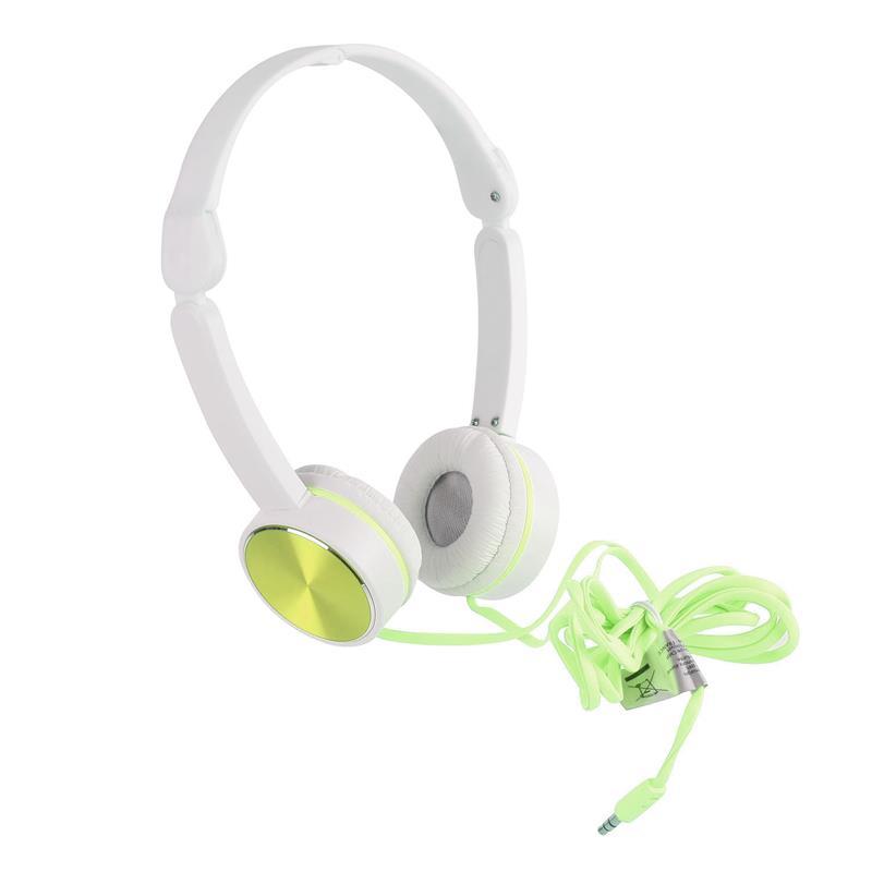 Headphones Branco e Verde