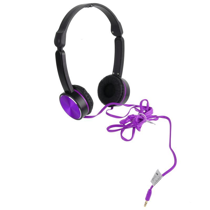 Headphones Preto e Roxo