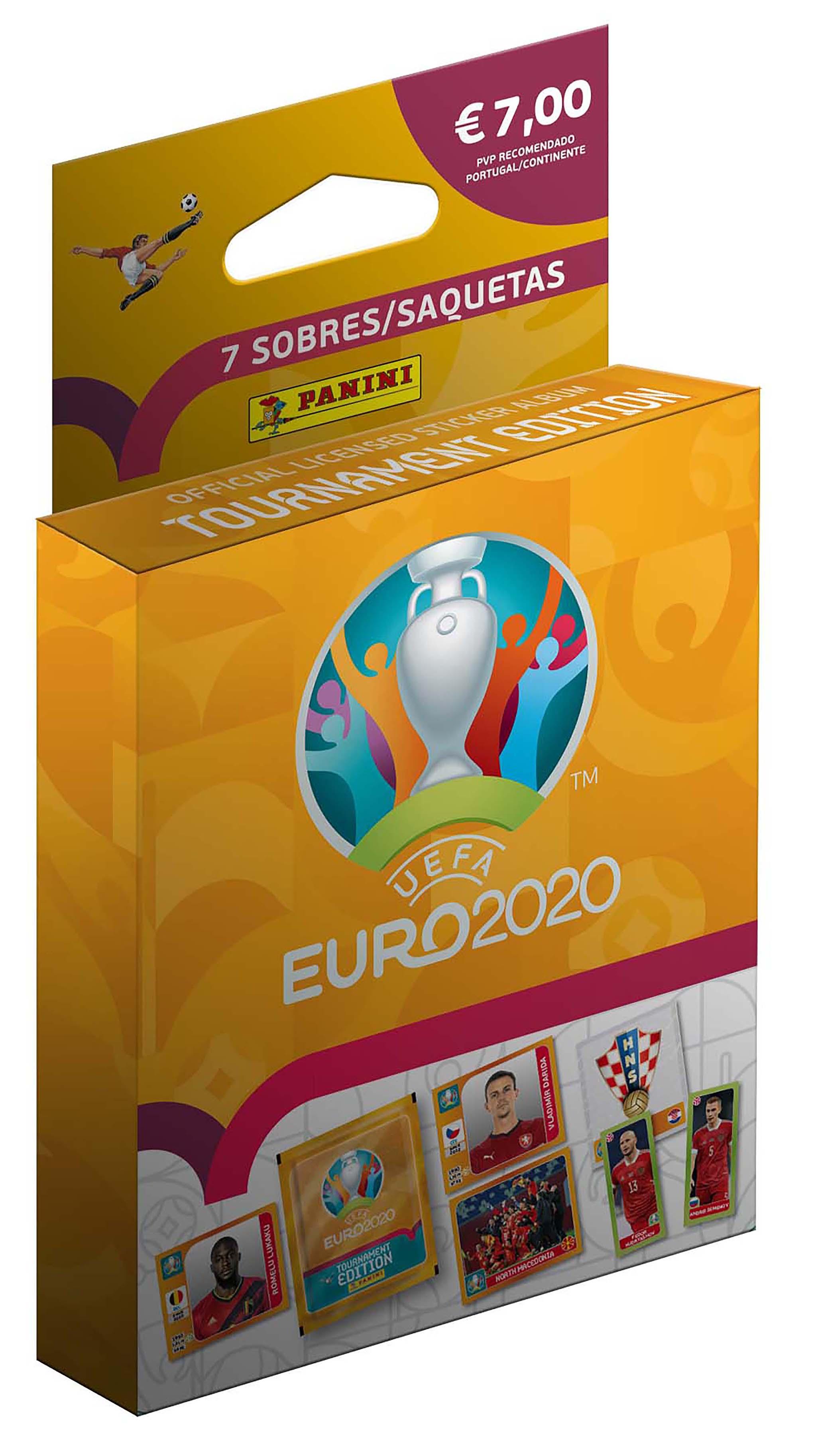 Blister 7 Saquetas Euro 2021