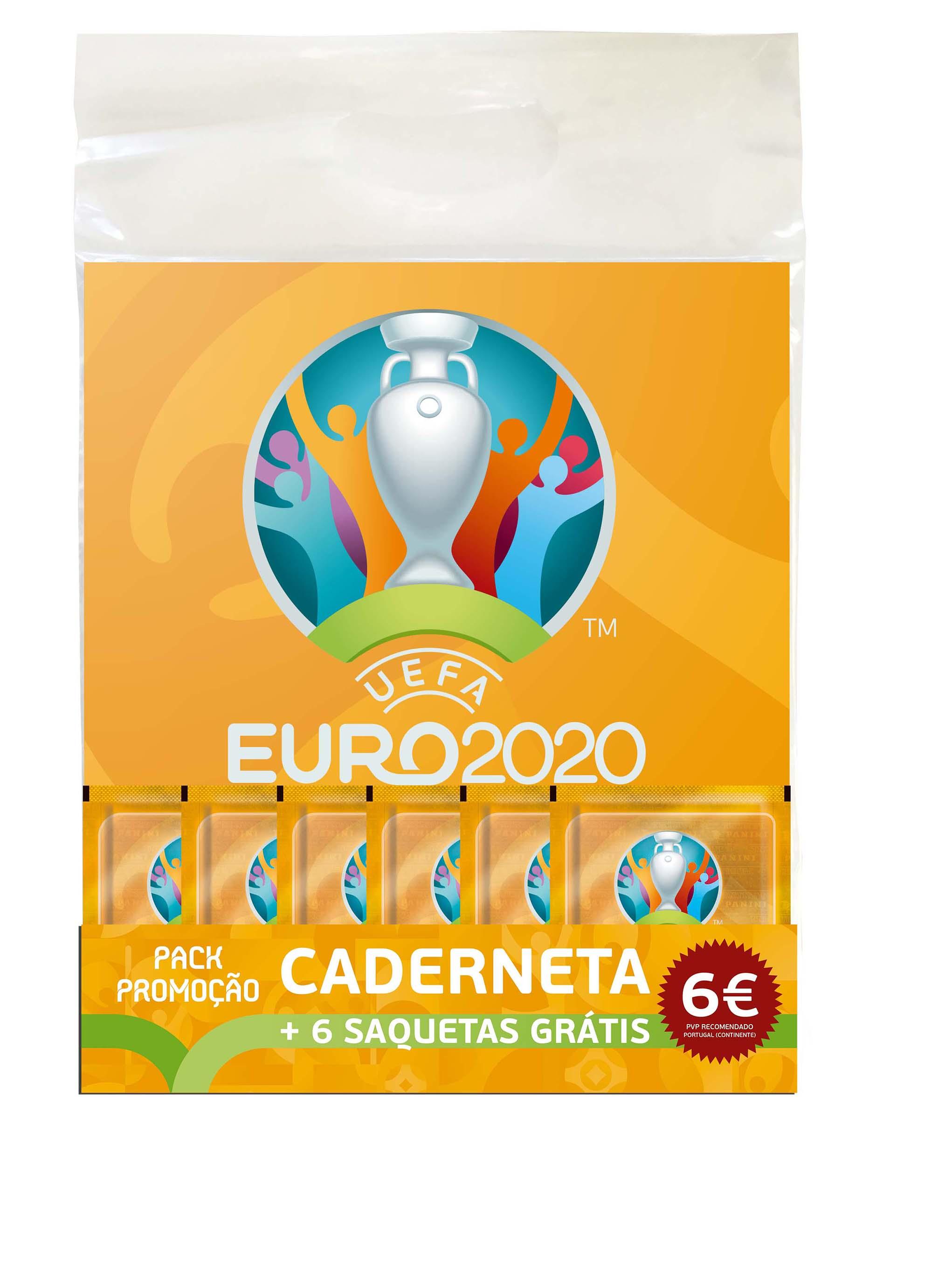 Promopack Caderneta + 6 Saquetas Euro 2021