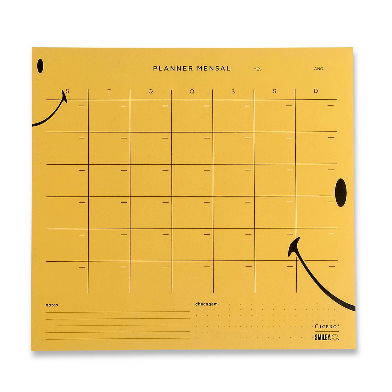 Planner Mensal Smiley