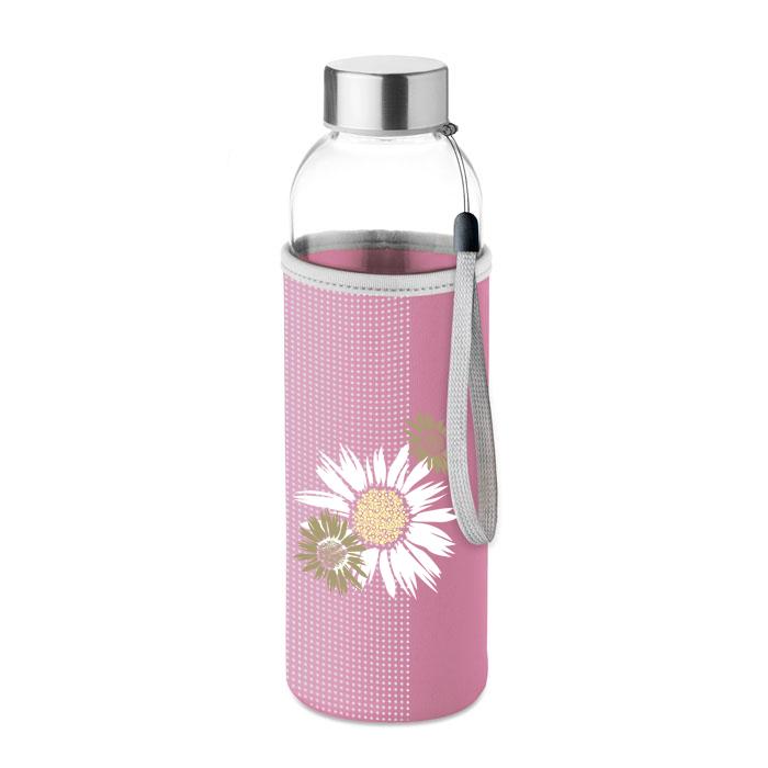 Garrafa Vidro Floral Cap. 500ML (artigo sortido)