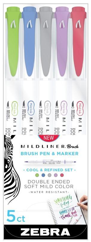 Marcador 2 Pontas Brush Pen Cool+Refined 5Un