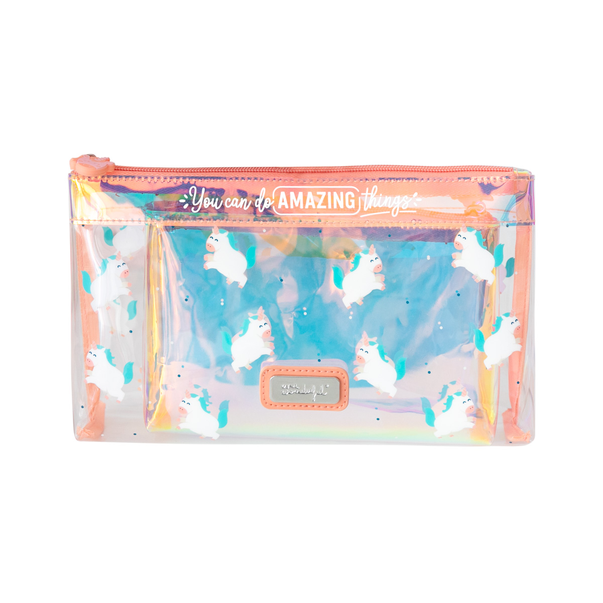 Set Of 2 Toiletries Bags Unicorn - You Can Do Amazing Things