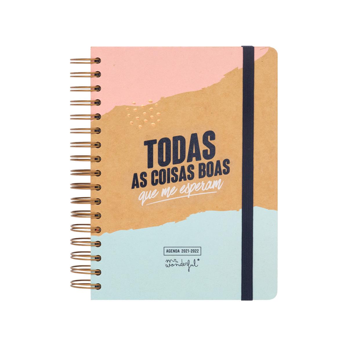 Agenda Clássica 21/22 Diária - Todas As Coisas Boas Que Me Esperam
