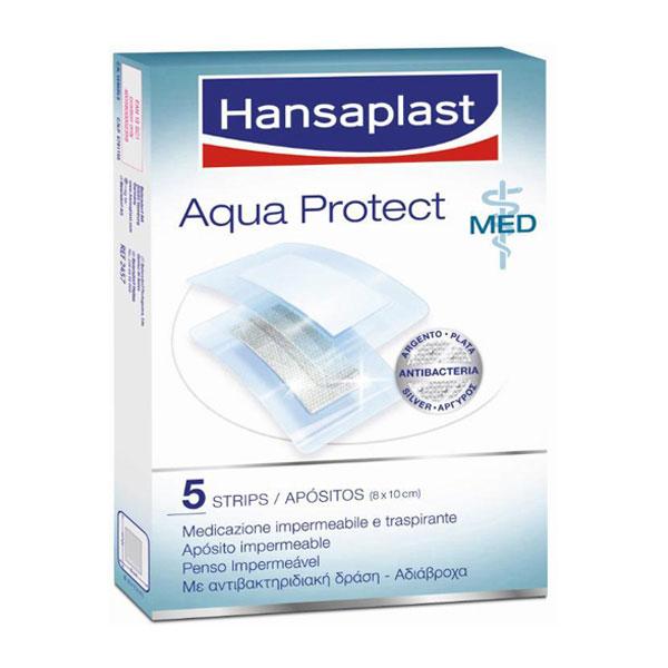 Pensos Impermeável Aqua Protect 8 cm x 10 cm Hansaplast 5 un