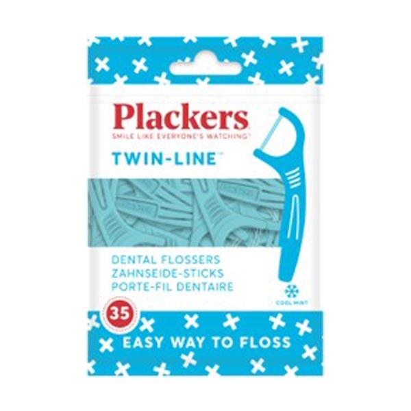 Fio Dentário Twinline Mint Plackers 35 un
