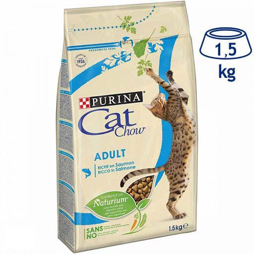 Ração para Gato Adulto Salmão Purina Cat Chow (emb. 1,5 kg)