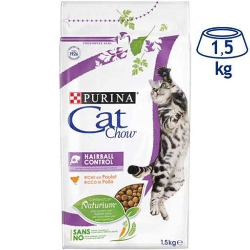 Ração para Gato Bola de Pelo  Purina Cat Chow (emb. 1,5 kg)