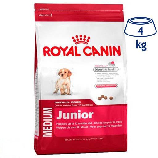 Ração para Cão Medium Júnior Royal Canin (emb. 4 kg)