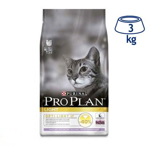 Ração para Gato Adulto Light Peru e Arroz Purina Pro Plan (emb. 3 kg)