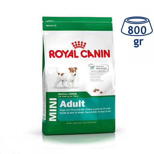 Ração para Cão Mini Adulto Royal Canin (emb. 800 gr)