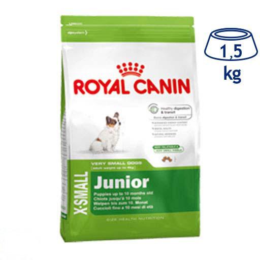 Ração para Cão Júnior X-Small Royal Canin (emb. 1,5 kg)