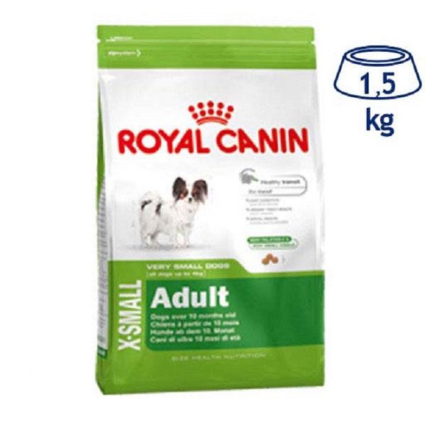 Ração para Cão Adulto X-Small Royal Canin (emb. 1,5 kg)