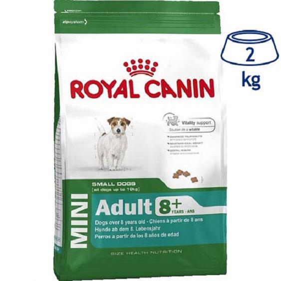 Ração para Cão Mini Adulto +8 Royal Canin (emb. 2 kg)