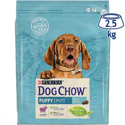 Ração para Cão Júnior Borrego e Arroz Purina Dog Chow (emb. 2,5 kg)