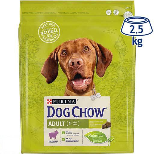 Ração para Cão Borrego Adulto Purina Dog Chow (emb. 2,5 kg)