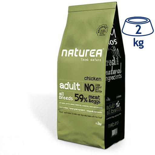 Ração para Cão Adulto Natural Frango M/L Naturea (emb. 2 kg)