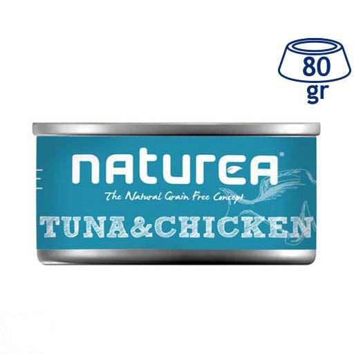 Comida Húmida para Gato Atum, Frango Naturea (emb. 80 gr)