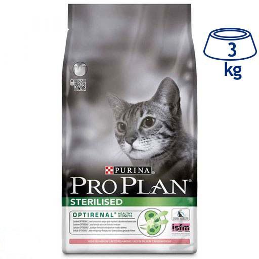 Ração para Gato Optirenal Esterilizado Salmão Purina Pro Plan (emb. 3 kg)