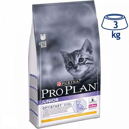 Ração para Gato Júnior Optistart Frango Purina Pro Plan (emb. 3 kg)