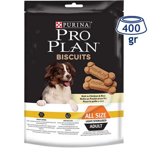 Biscoito para Cão Light Frango e Arroz Purina Pro Plan (emb. 400 gr)